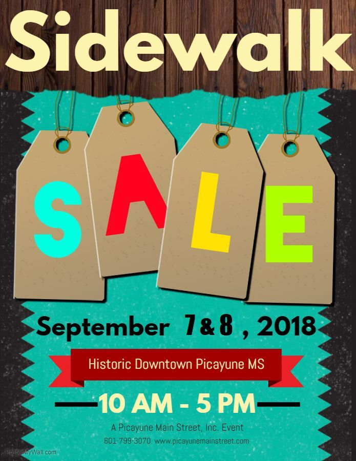 2018 September Sidewalk Sale