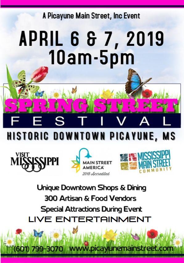 2019 Spring Street Festival flyer 2